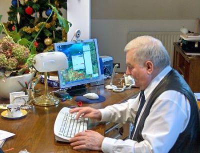 Lech Wałęsa bloguje