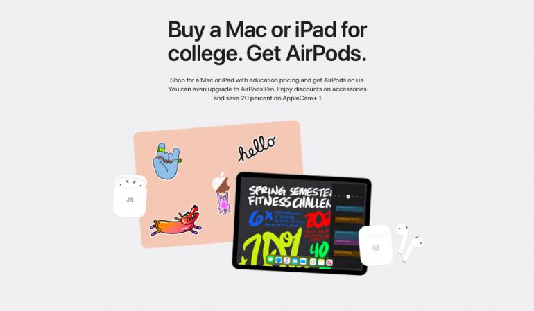 Promocja Back to School w amerykańskim Apple Store
