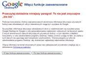 Google z właściwą sobie bezpośredniością przekazuje ważne informacje.