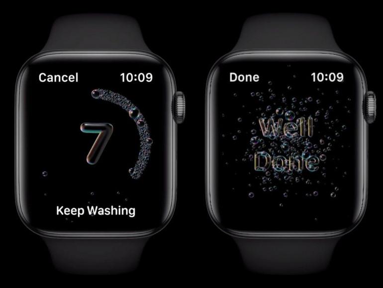 Apple Watch z funkcją monitorowania mycia rąk