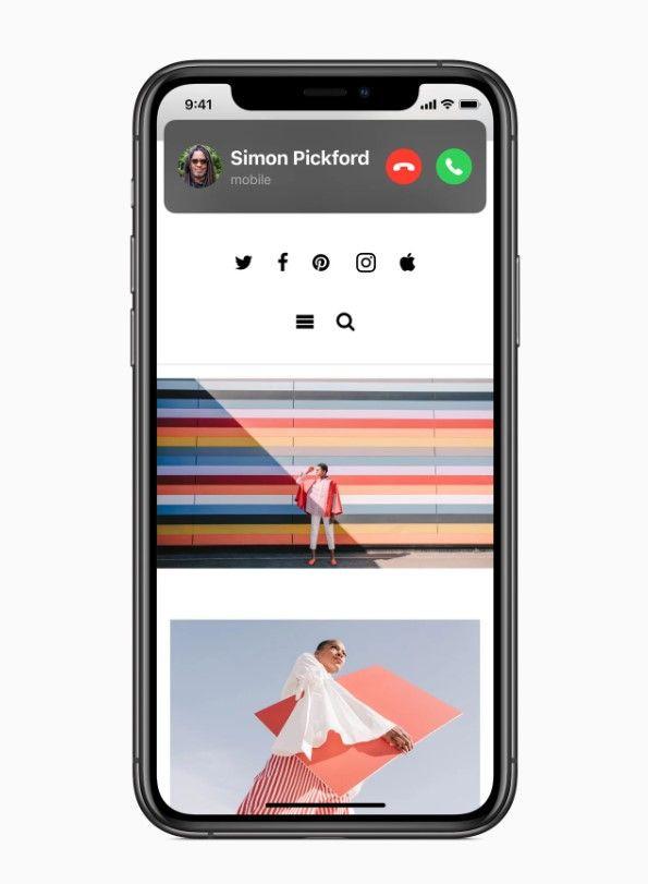 Nowy ekran połączeń przychodzących