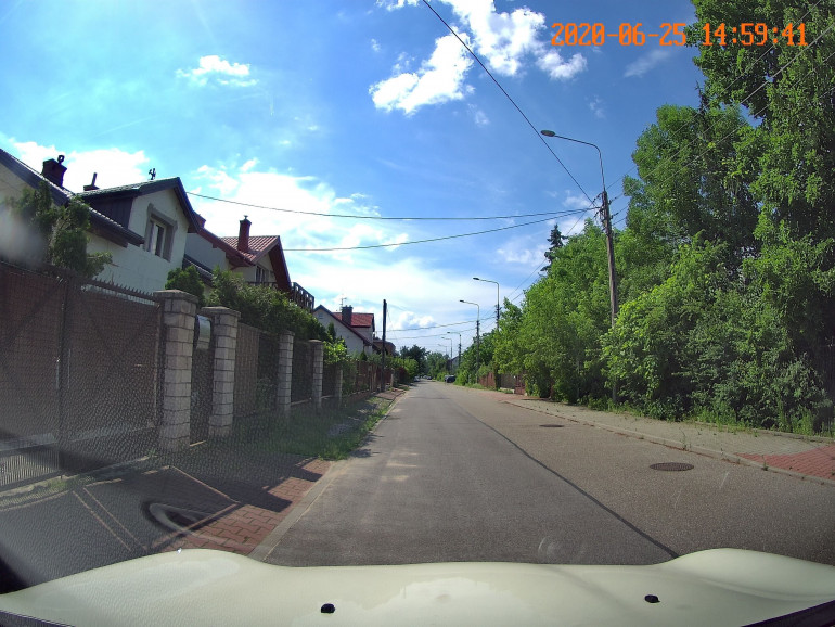 Zdjęcie z zamontowanego wideorejestratora