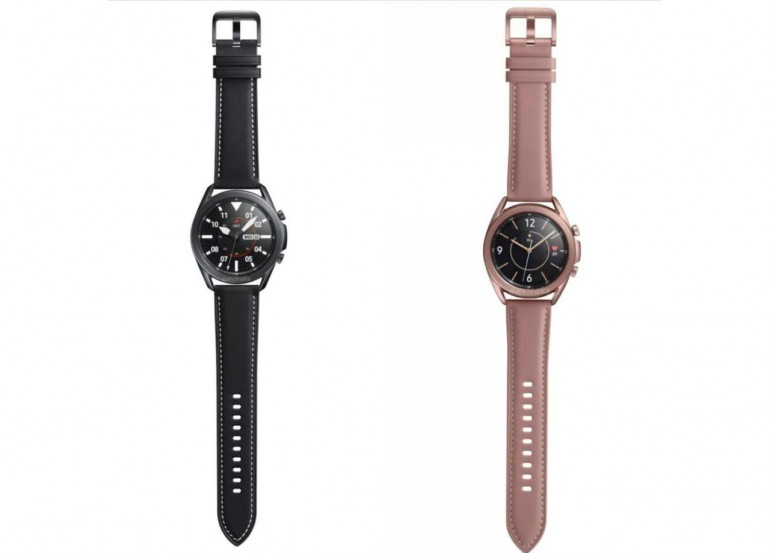 Samsung Galaxy Watch 3 w kolorze czarnym oraz brązowym