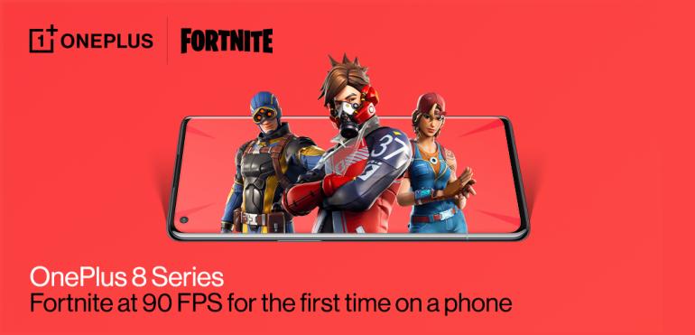 Fortnite w 90 klatkach na sekundę na OnePlus 8