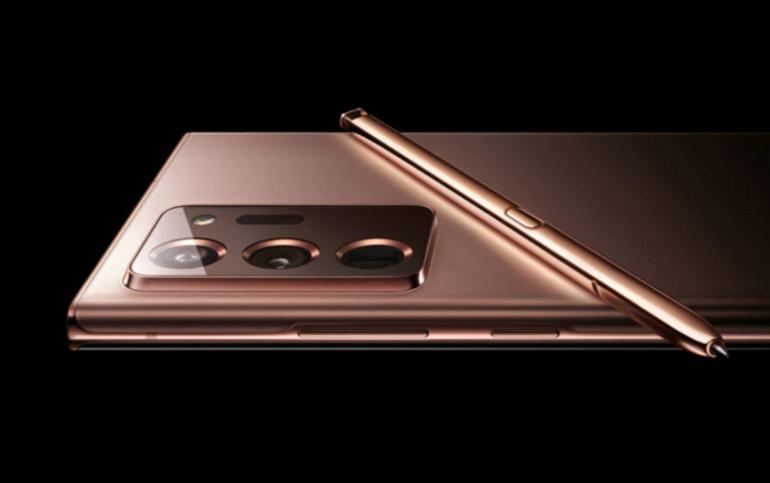 Samsung Galaxy Note 20 Ultra w kolorze brązowym