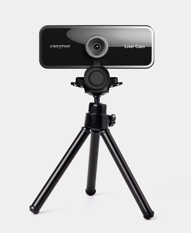 Creative Live! Cam Sync 1080p na tripodzie