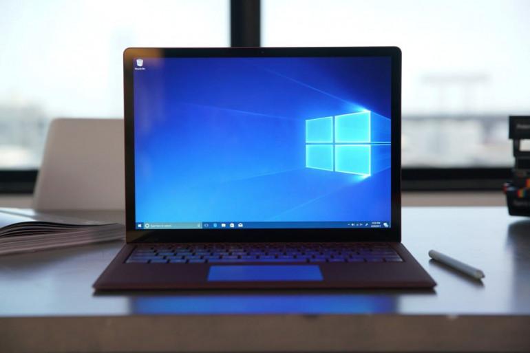 Windows 10 na Microsoft Surface Laptop