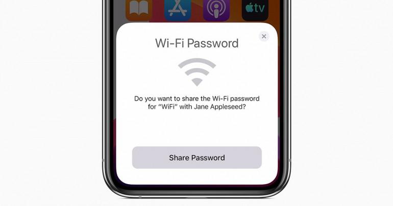 Udostępnianie Wi-Fi w iOS 13