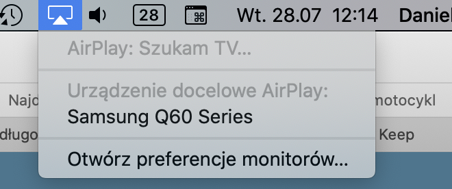 Szukanie iPada i innych urządzeń AirPlay