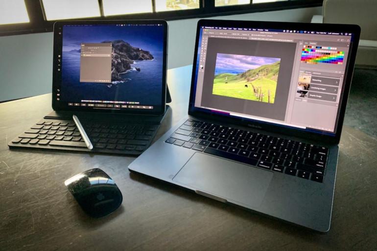 MacBook i iPad z Sidecar Źródło: Macworld.com
