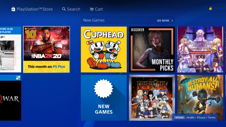Cuphead w PS Store (aut. Wario64)