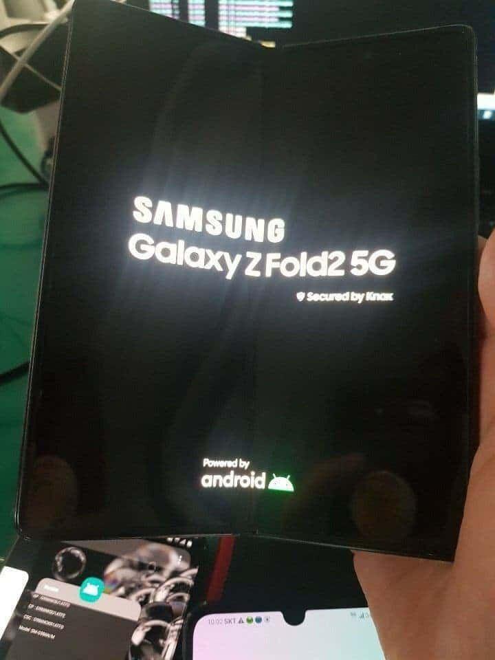 Smartfon Samsung Galaxy Z Fold 2  Rodło: gizchina.com