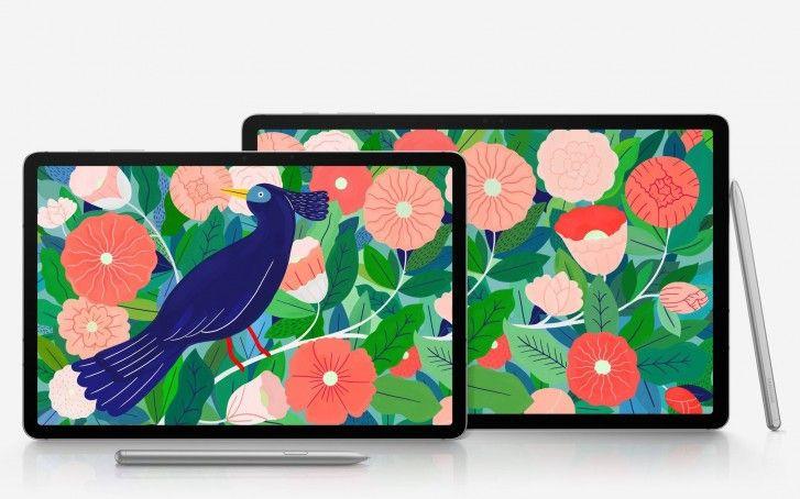 Galaxy Tab S7 i Galaxy Tab S7+ na oficjalnych renderach Źródło: gsmarena.com