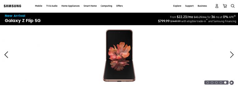 Przedsprzedaż Galaxy Z Flip 5G