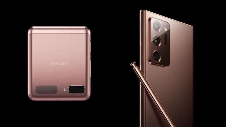 Galaxy Z Flip 5G i Galaxy Note 20 Ultra w kolorze Mystic Bronze