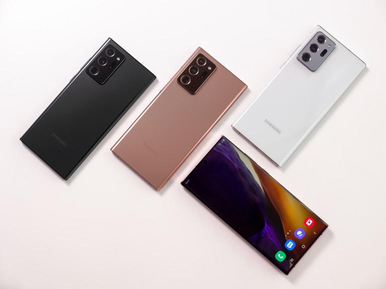 Wersje kolorystyczne Galaxy Note 20