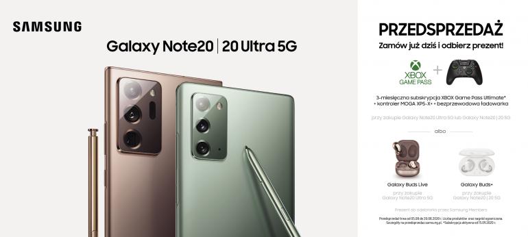 Galaxy Note20 5G i Galaxy Note20 Ultra 5G