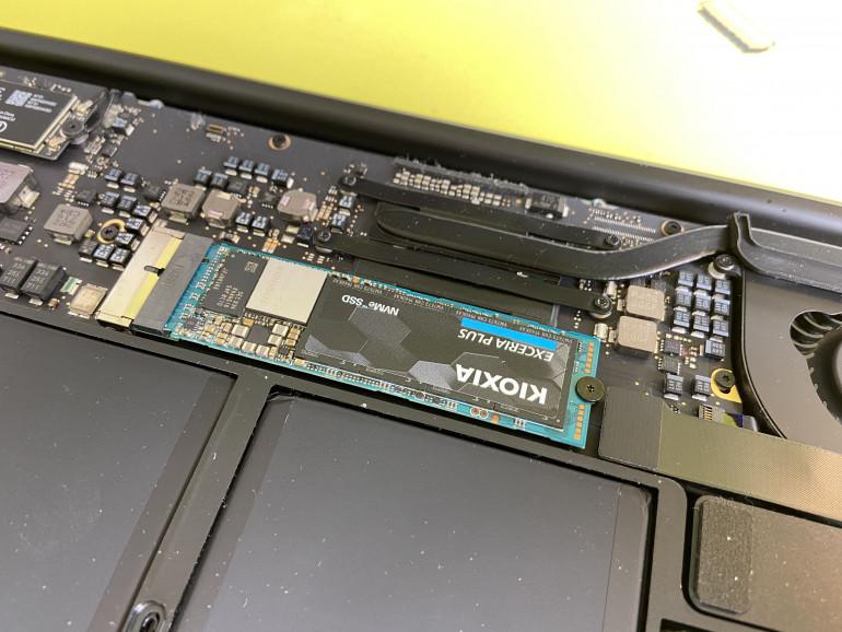 Dysk NVMe z konwerterem w MacBooku Air
