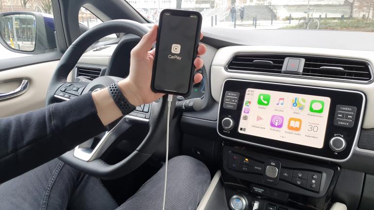 CarPlay w Nissan Leaf 2020