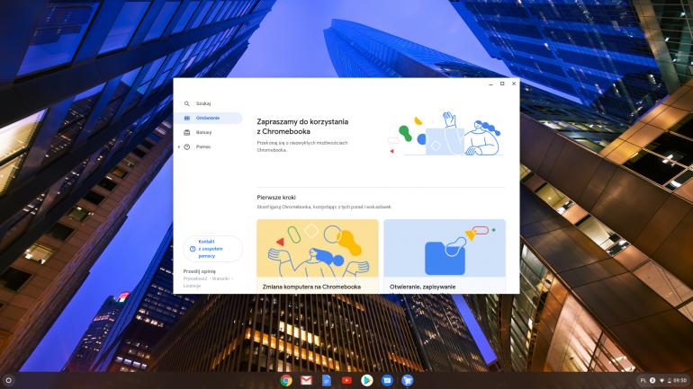 Ekran startowy Chrome OS