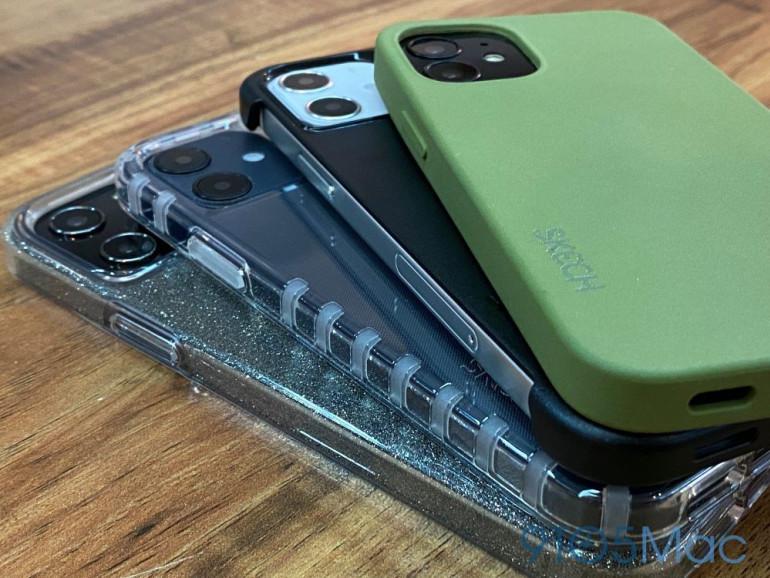 Makiety iPhone'a 12 w pokrowcach Skech Źródło: 9to5mac.com