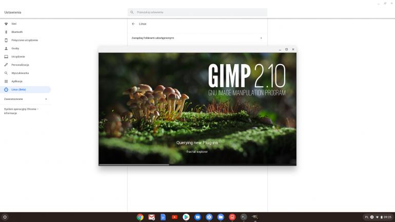 Gimp na Chrome OS