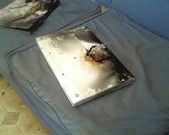 Spalony Macbook