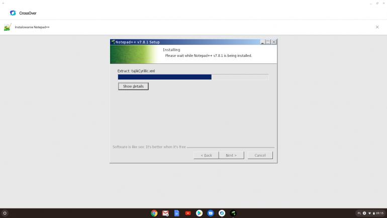 Instalacja Notepad++