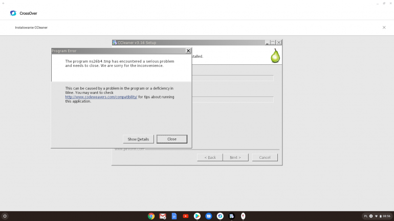 Problem podczas instalacji CCleaner