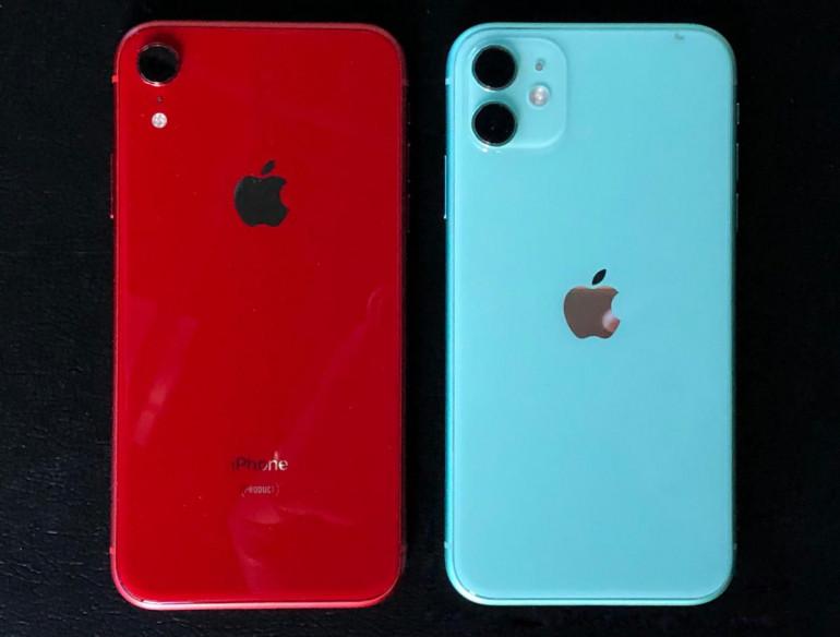 iPhone Xr (z prawej) i iPhone 11 (z lewej)