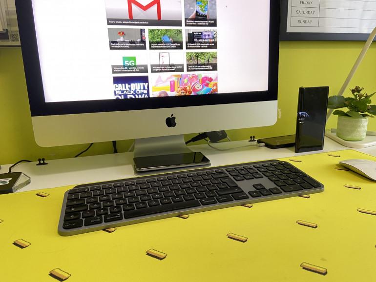 Klawiatura MX Keys for Mac obo iMac'a 4K