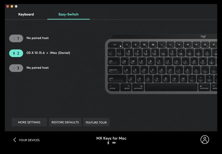 Urządzenia sparowane z klawiaturą