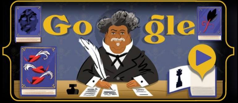 Alexandre Dumas Google Doodle