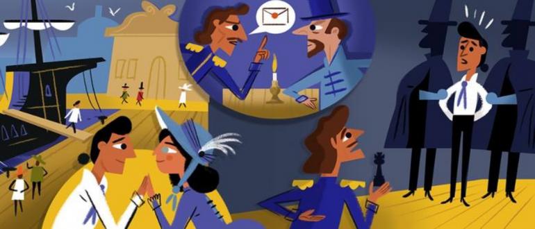 """Hrabia Monte Christo"" według Google Doodle"