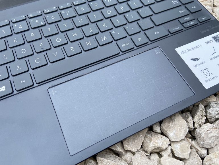 Gładzik z uruchomionym NumberPad