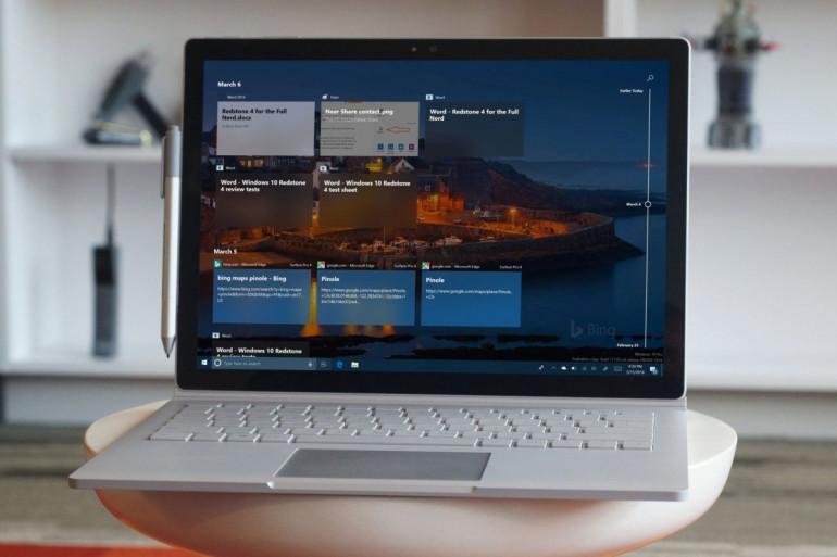 Windows 10 2004 na Microsoft Surface Book