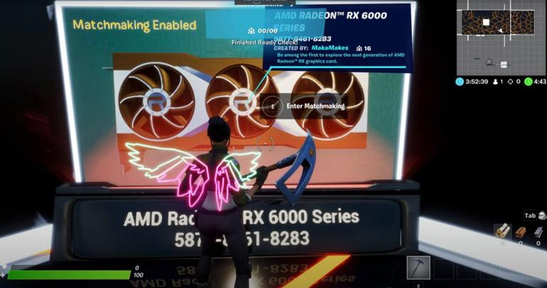 AMD Radeon RX 6000 w Fortnite
