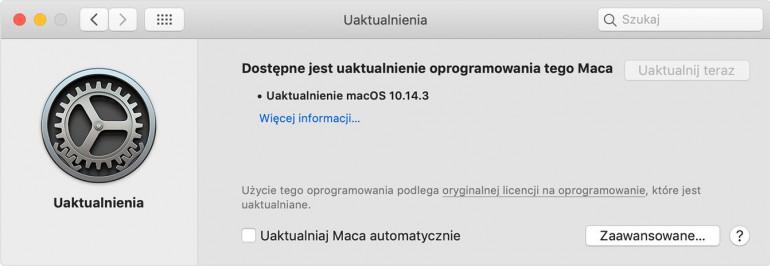 Aktualizacja macOS