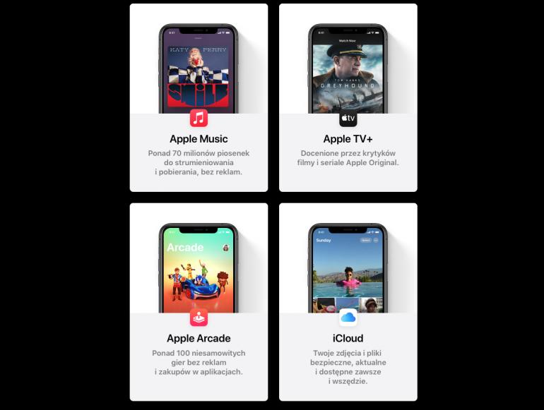 Elementy wchodzące w skład Apple One