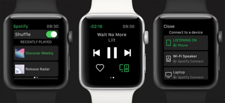 Spotify na Apple Watch Series 3