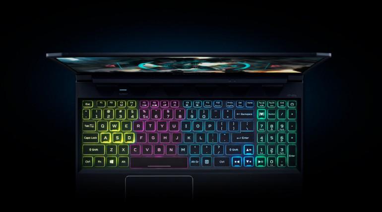 Czterostrefowe podświetlenie klawiatury