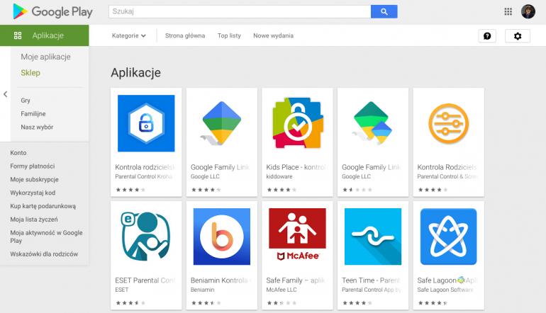Kontrola Rodzicielska - aplikacje w Google Play
