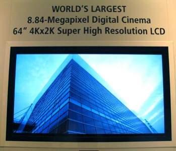 64-calowy Sharp z ekranem o rozdzielczości prawie 9 milionów pikseli (źródło: crave.cnet.co.uk.com)