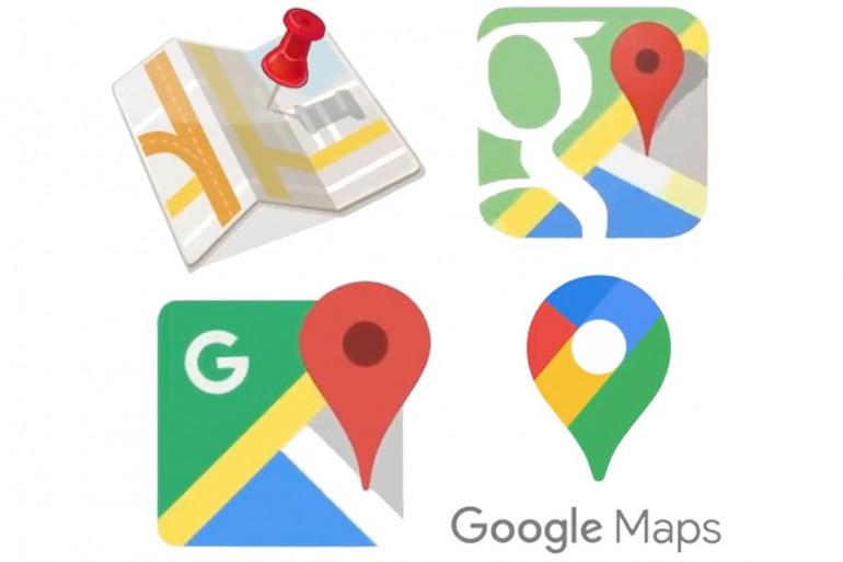 Historia logo Map Google