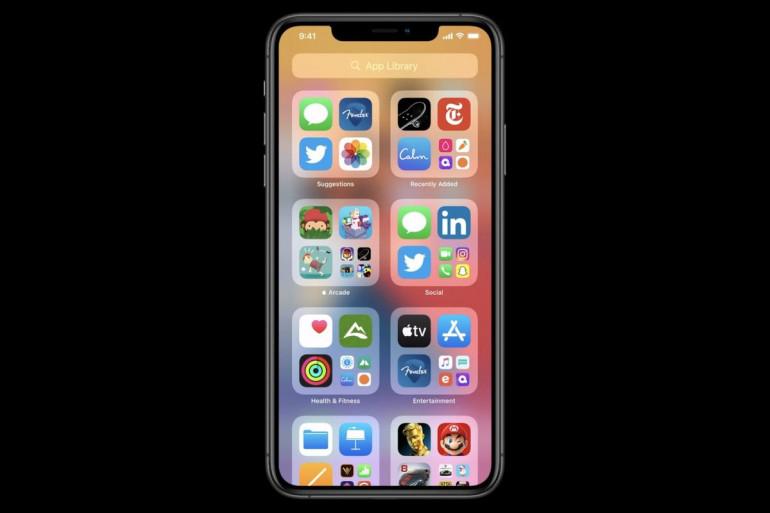 iOS 14 - menu aplikacji