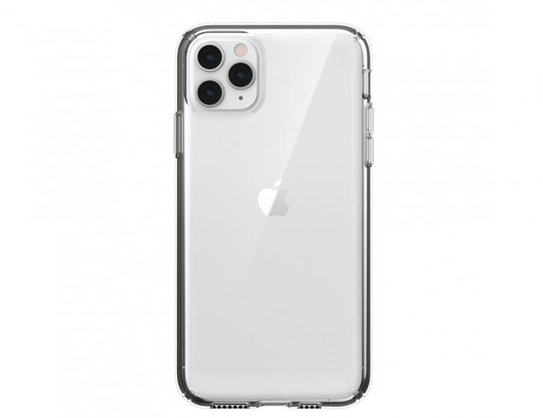 iPhone 11 Pro Max w pokrowcu Speck Presidio Clear