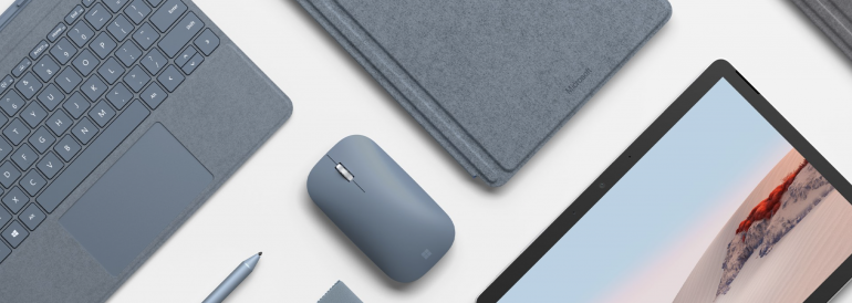 Surface Mobile Mouse w kolorze Lodowoniebieskim
