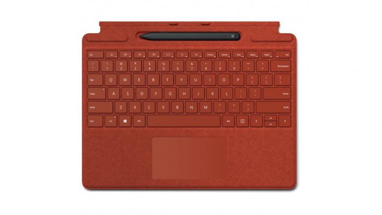 Surface Pro X Signature Keyboard w kolorze Jaskrawoczerwonym