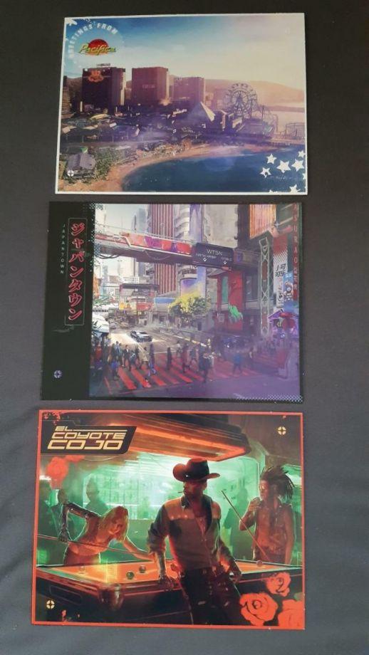 Cyberpunk 2077 pocztówki