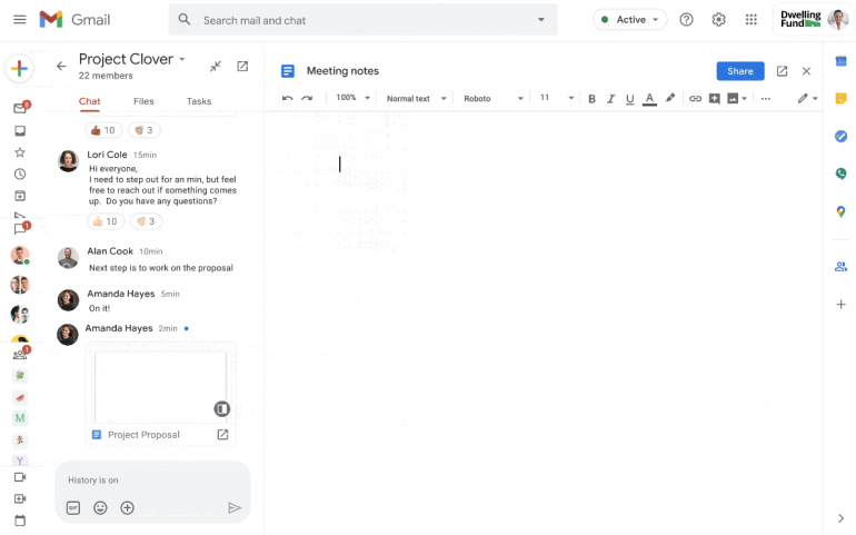 Nowy dokument bezpośrednio w Gmail